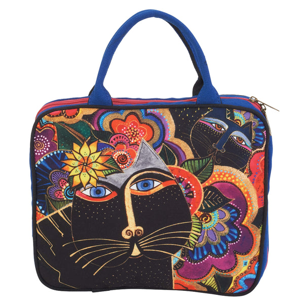 Carlotta's Cats Cosmetic Travel Tote Bags Sun'N'Sand - Laurel Burch Studios