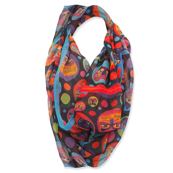 Feline Faces Infinity Scarf