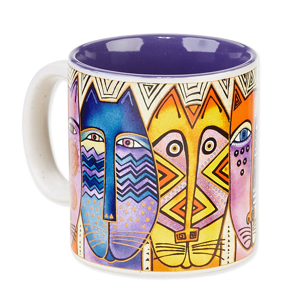 Tribal Feline Mug Mugs Sun'N'Sand - Laurel Burch Studios