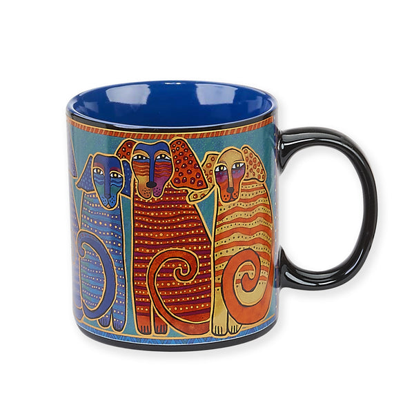 Canine Friends Mug Mugs Sun'N'Sand - Laurel Burch Studios