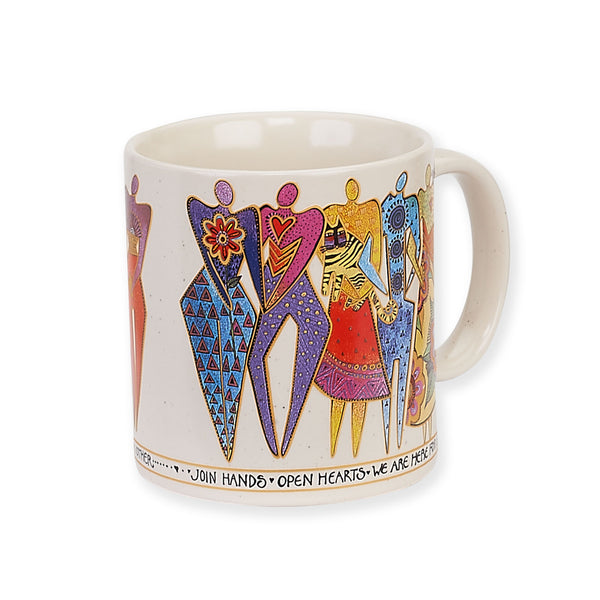 Join Hands Mug Mugs Sun'N'Sand - Laurel Burch Studios