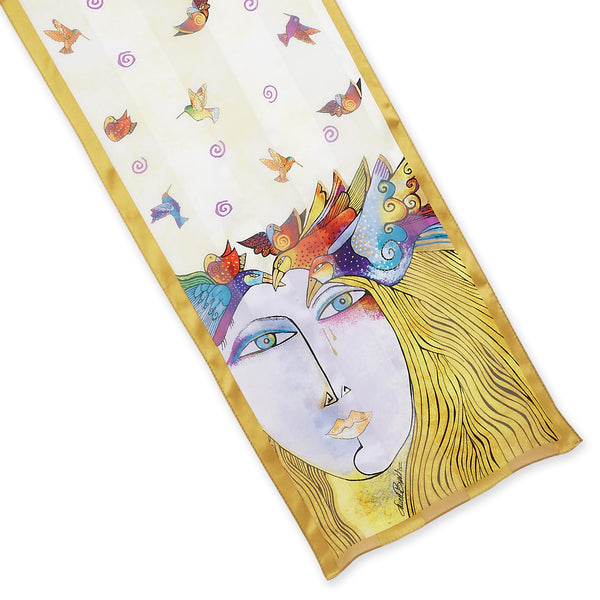 Soul Tears Silk Scarf Scarves Sun'N'Sand - Laurel Burch Studios
