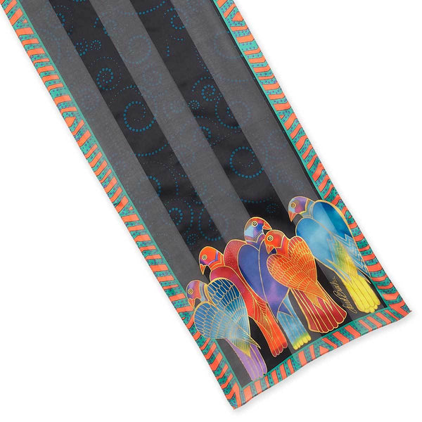 Brazilian Birds Silk Scarf Scarves Sun'N'Sand - Laurel Burch Studios