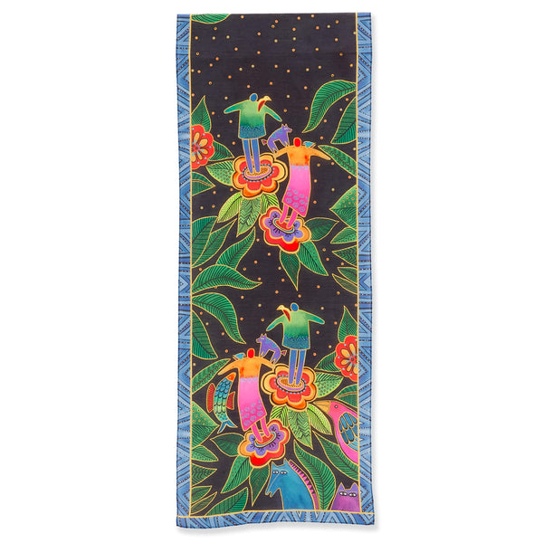 Spirits in Bloom Modal-Silk Scarf