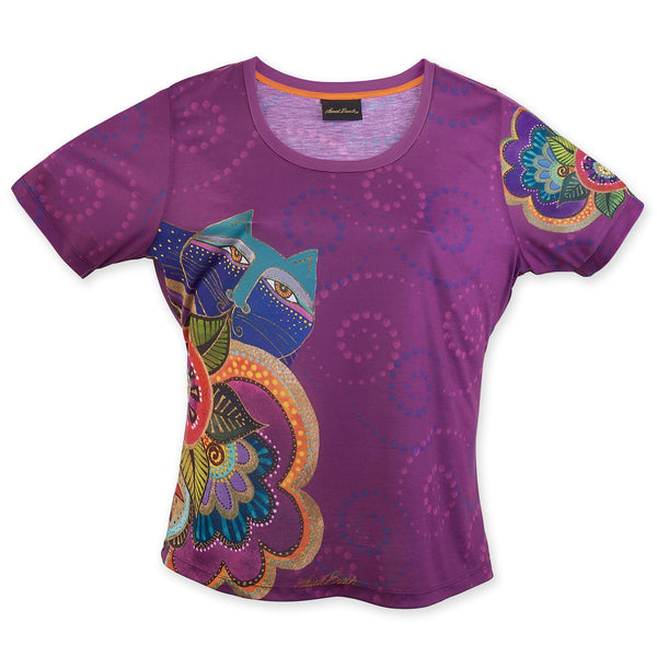 Carlotta's Cats Women's T-Shirt Apparel Sun'N'Sand - Laurel Burch Studios