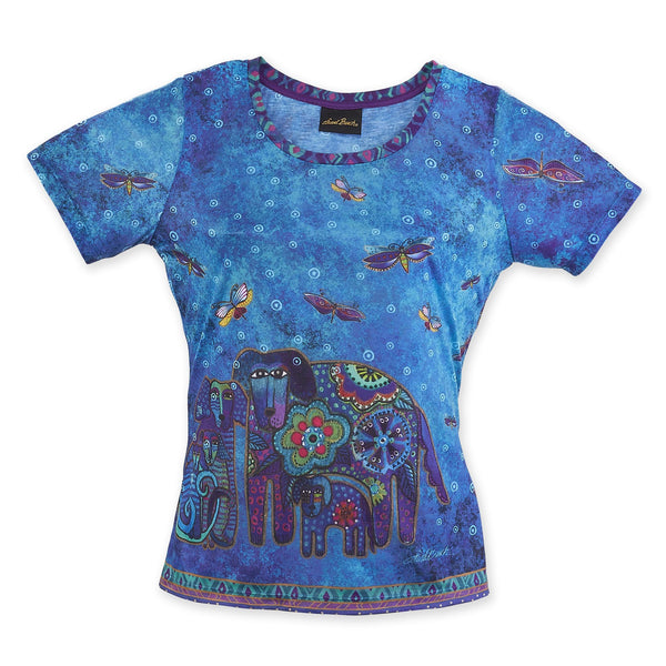 Canine Family Women's T-Shirt Apparel Sun'N'Sand - Laurel Burch Studios