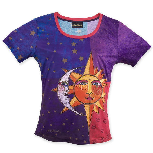 Sun & Moon Women's T-Shirt Apparel Sun'N'Sand - Laurel Burch Studios