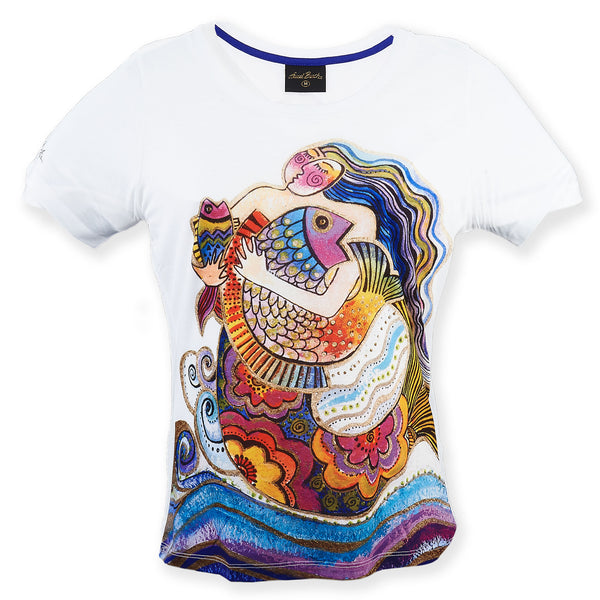 Daughter of Mikayla Women's T-Shirt Apparel Sun'N'Sand - Laurel Burch Studios
