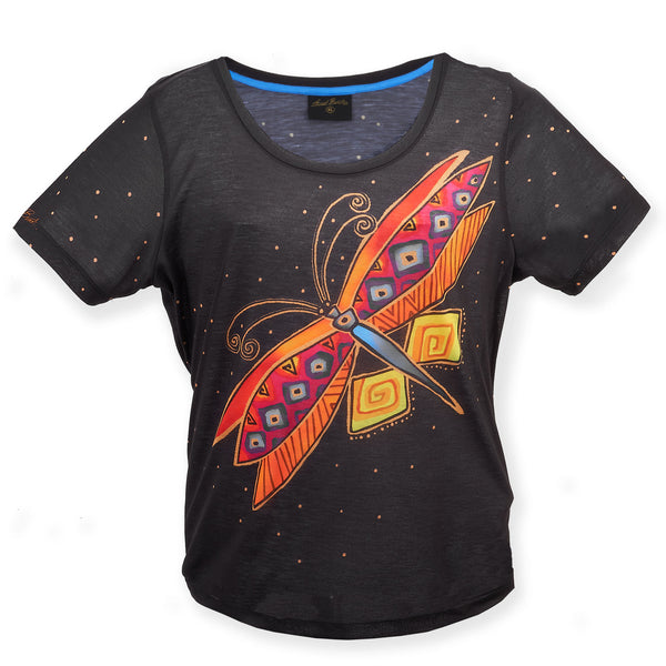 Dragonfly Women's T-Shirt Apparel Sun'N'Sand - Laurel Burch Studios