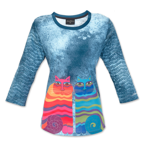 Rainbow Felines 3/4 Sleeve Women's T-Shirt