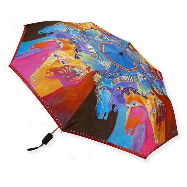Wild Horses of Fire Umbrella Umbrellas Sun'N'Sand - Laurel Burch Studios