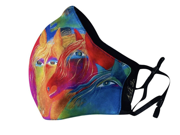 Wild Horses of Fire Adjustable Poly-Cotton Face Mask