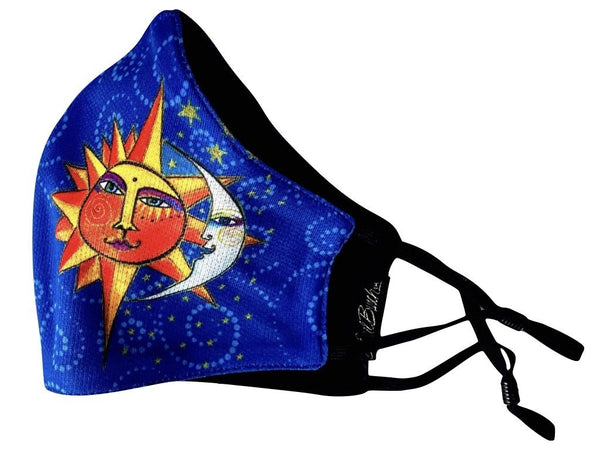 Sister Sun Brother Moon Adjustable Poly-Cotton Face Mask