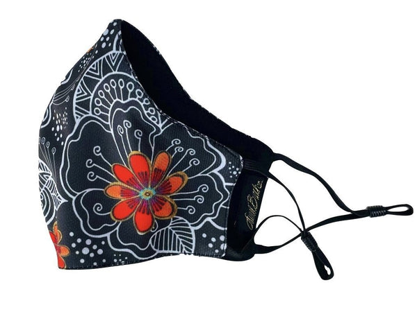 Blossoming Florals Adjustable Poly-Cotton Face Mask