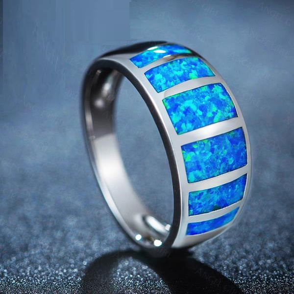 Colors of the Caribbean™ Premium Blue Opal Ring
