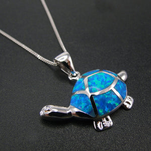 Ocean Blue Turtle Necklace