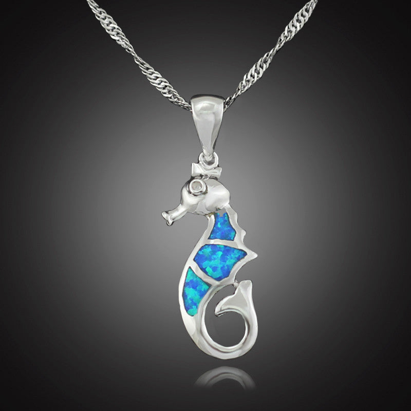 Turquoise Collection: Sea Horse Pendant