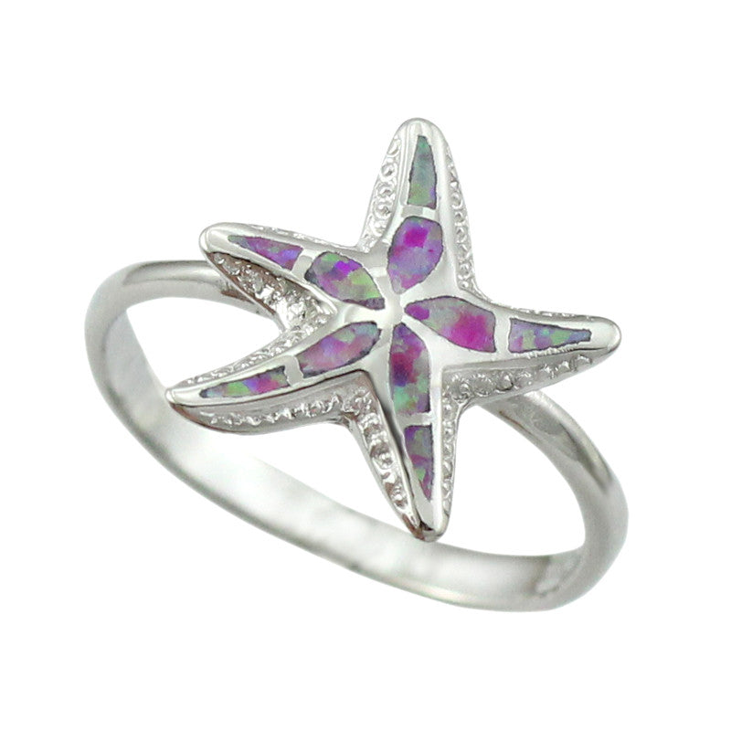 Premium Fire Opal Starfish Ring
