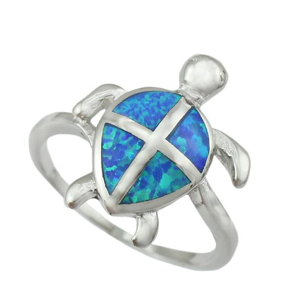 Premium Fire Opal Turtle Ring