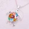 Multicolor Sea Turtle Necklace