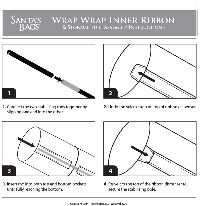 Wrap-Wrap Paper and Ribbon Storage Bag for 29-Inch Rolls