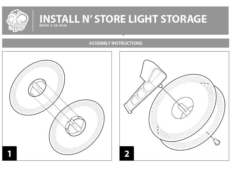 install n store light storage reels instructions - Christmas Light Storage Reels