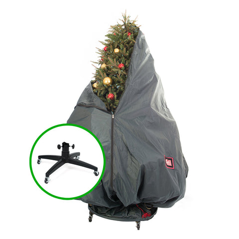 TreeKeeper PRO Decorated Storage Bag - TreeKeeper PRO Storage Bag And Stand Kit Includes 2-Way Rolling