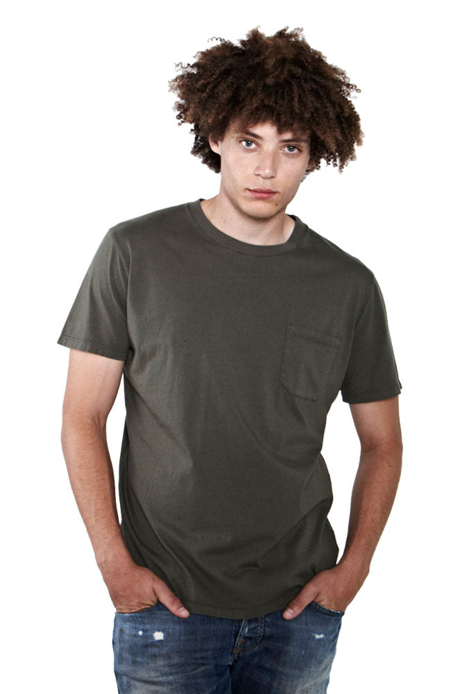Crew Neck T-Shirt with Binding