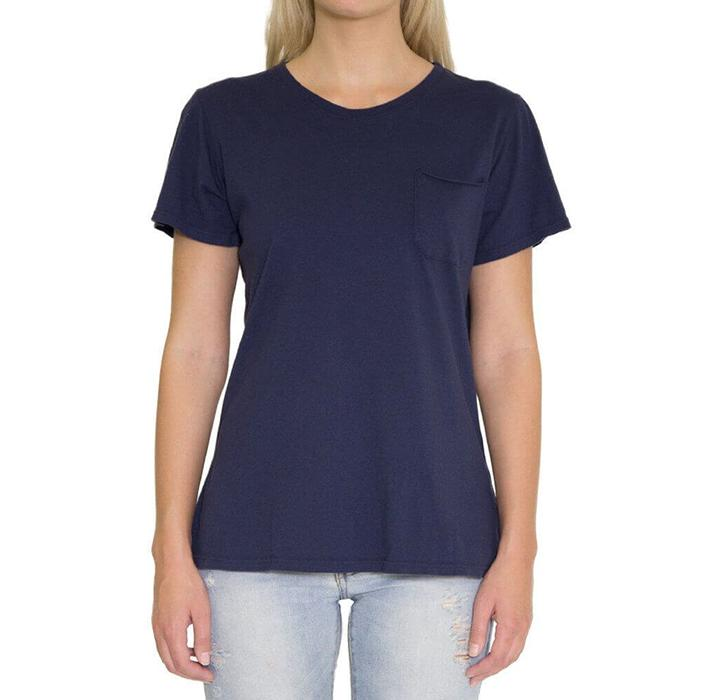Women's Crew Neck Pocket T-Shirt