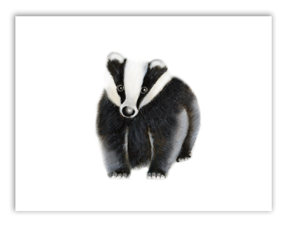 Badger Nursery Art Print - Studio Q - Art by Nicky Quartermaine Scott