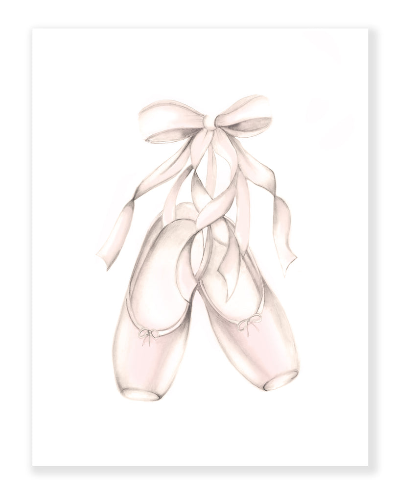 Ballet Shoes Print - Studio Q - Art by Nicky Quartermaine Scott