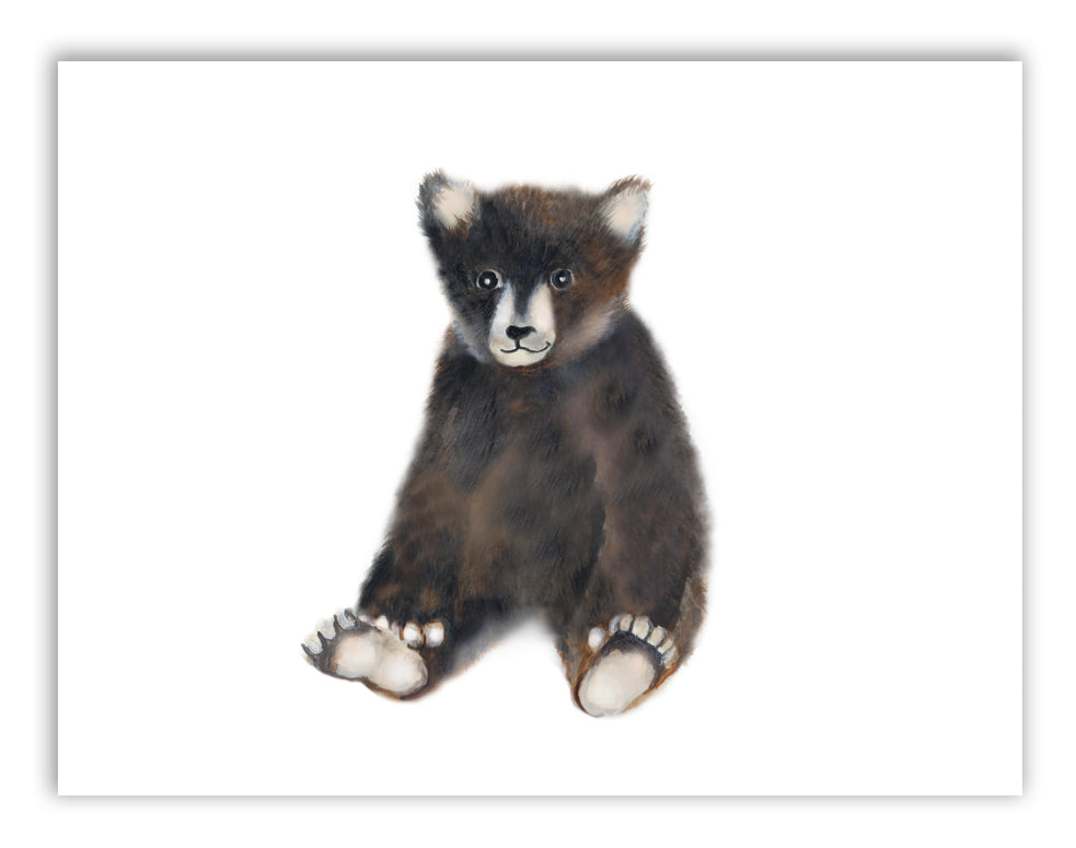 Bear Cub Nursery Art Print - Studio Q - Art by Nicky Quartermaine Scott