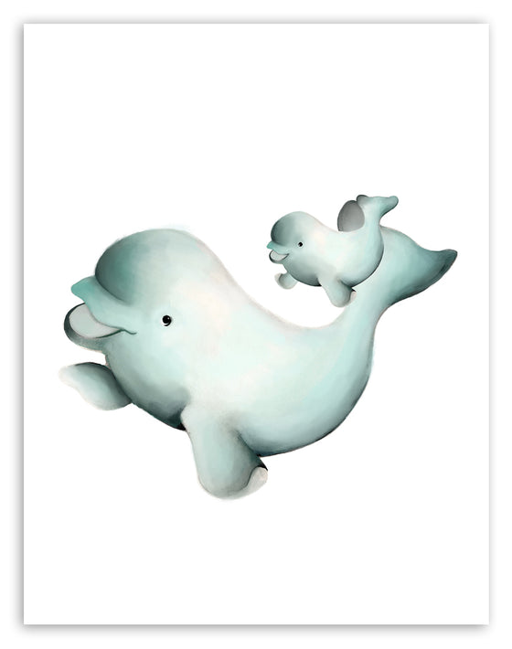 Beluga Whale Nursery Print - Studio Q - Art by Nicky Quartermaine Scott