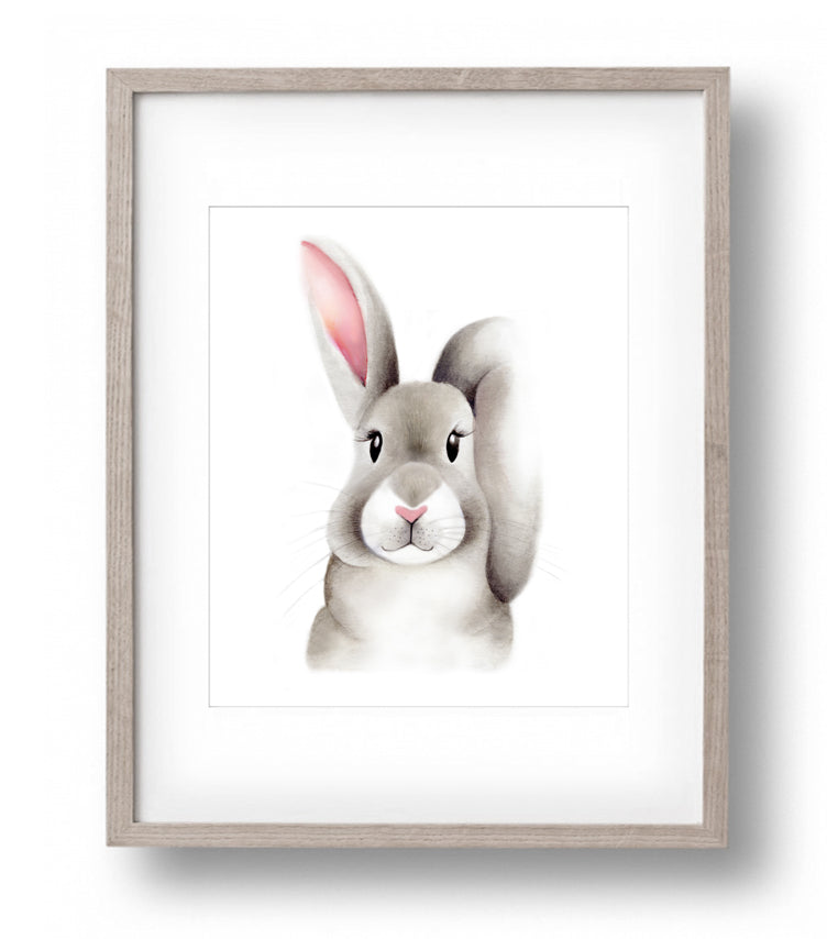 Baby Bunny Fluffy Face Print - Studio Q - Art by Nicky Quartermaine Scott