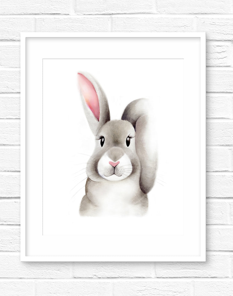 Baby Bunny Fluffy Face Print