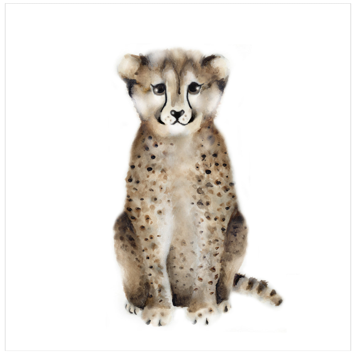 Cheetah Nursery Art Print - Studio Q - Art by Nicky Quartermaine Scott