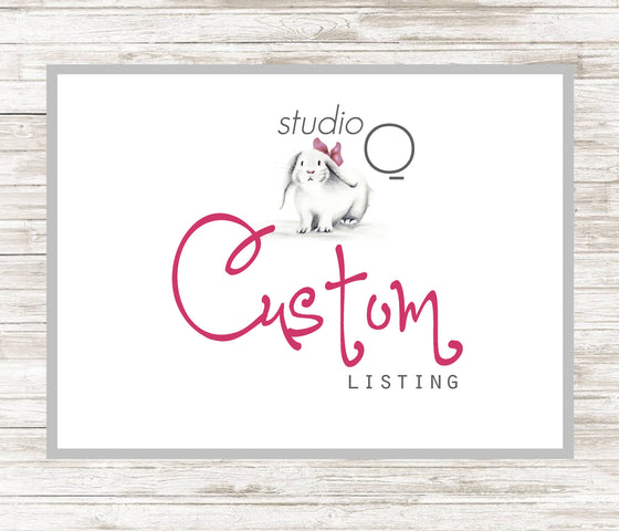 CUSTOM LISTING FOR CHRISTINA - Studio Q - Art by Nicky Quartermaine Scott