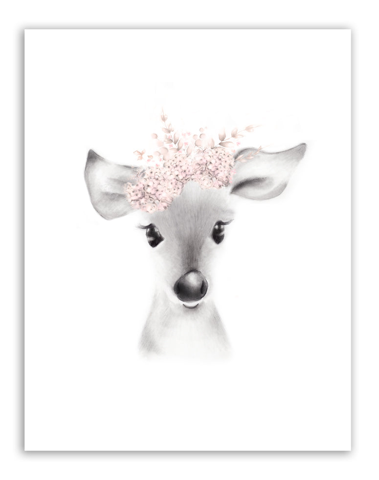 Baby Animal Flower Crown Prints - Set of 4 - Studio Q - Art by Nicky Quartermaine Scott