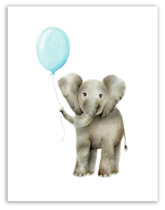 Baby Elephant with Round Balloon