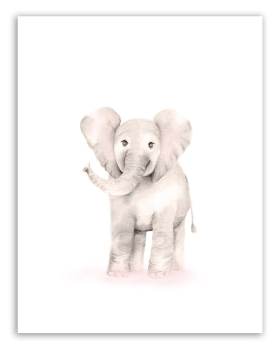 Elephant Nursery Art Print - Sweet Blush - Studio Q - Art by Nicky Quartermaine Scott