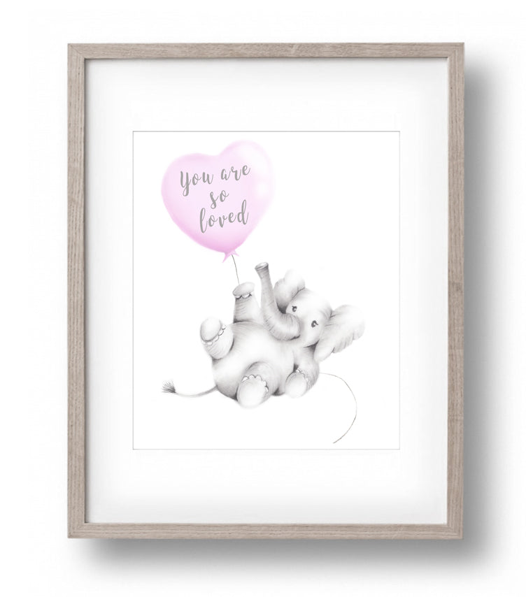 Baby Elephant You are so Loved - Studio Q - Art by Nicky Quartermaine Scott