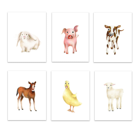 Farm Nursery Art Set of 6 Prints