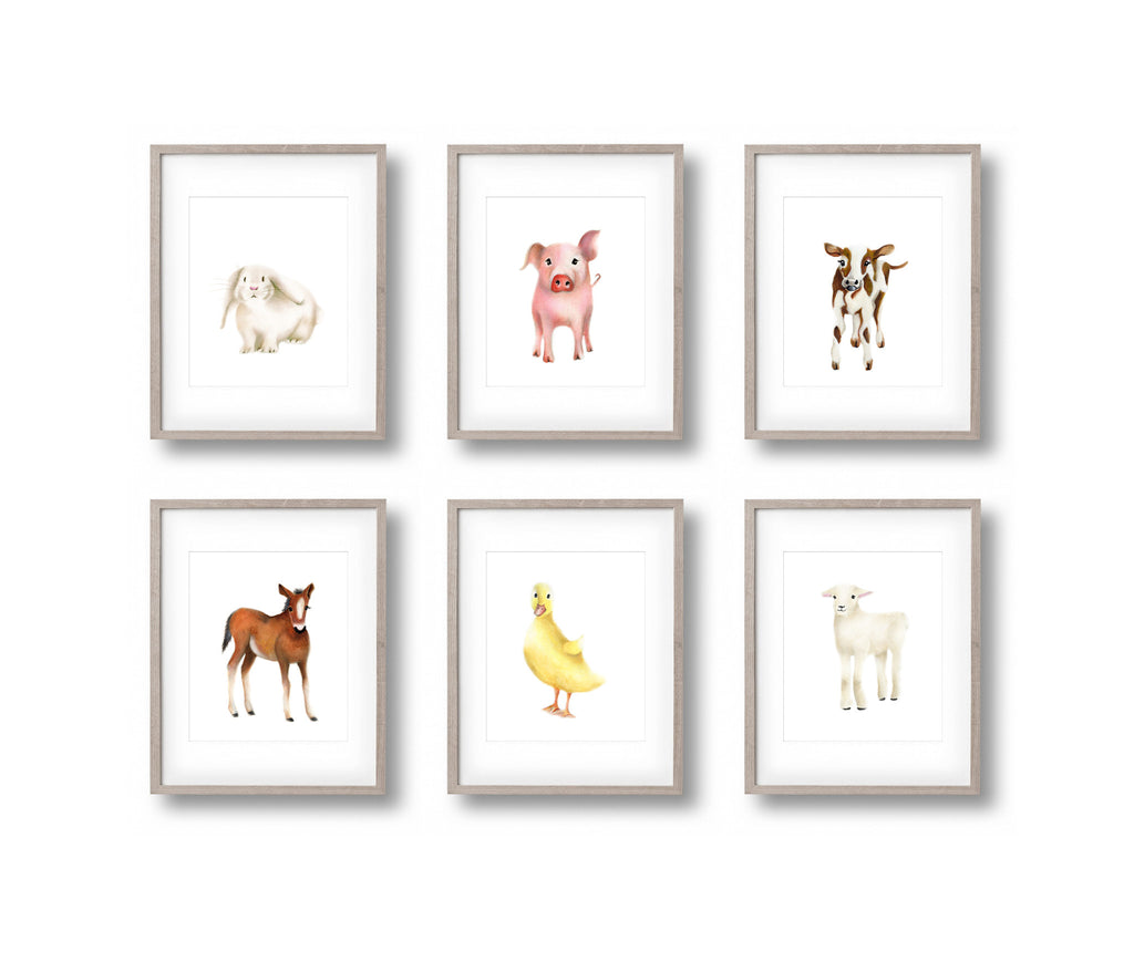 Lamb Nursery Art Print 2 - Studio Q - Art by Nicky Quartermaine Scott