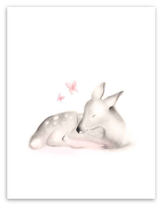 Sleeping Baby Fawn - Sweet Blush - Studio Q - Art by Nicky Quartermaine Scott