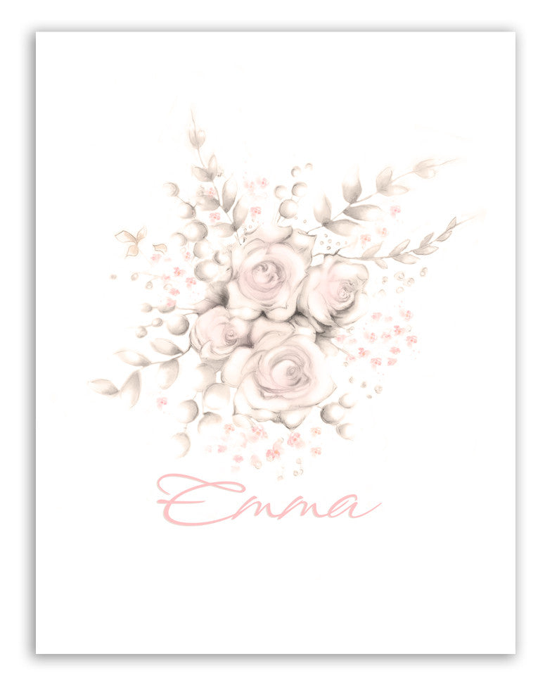 Flower Art Print - Sweet Blush - Studio Q - Art by Nicky Quartermaine Scott