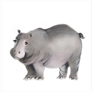 Hippo Nursery Art Print - Studio Q - Art by Nicky Quartermaine Scott
