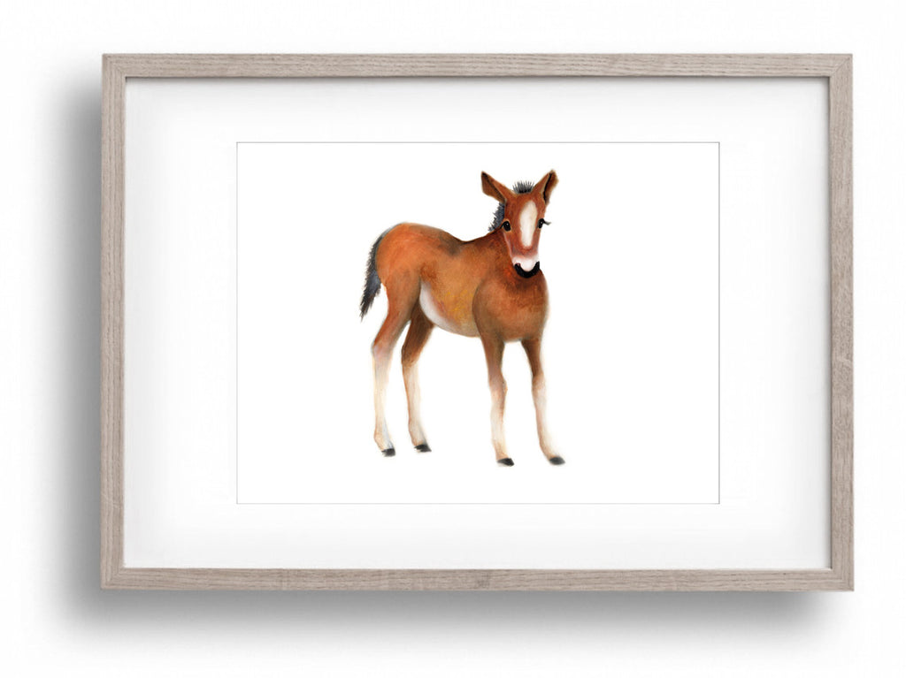 Horse Nursery Art Print - Studio Q - Art by Nicky Quartermaine Scott