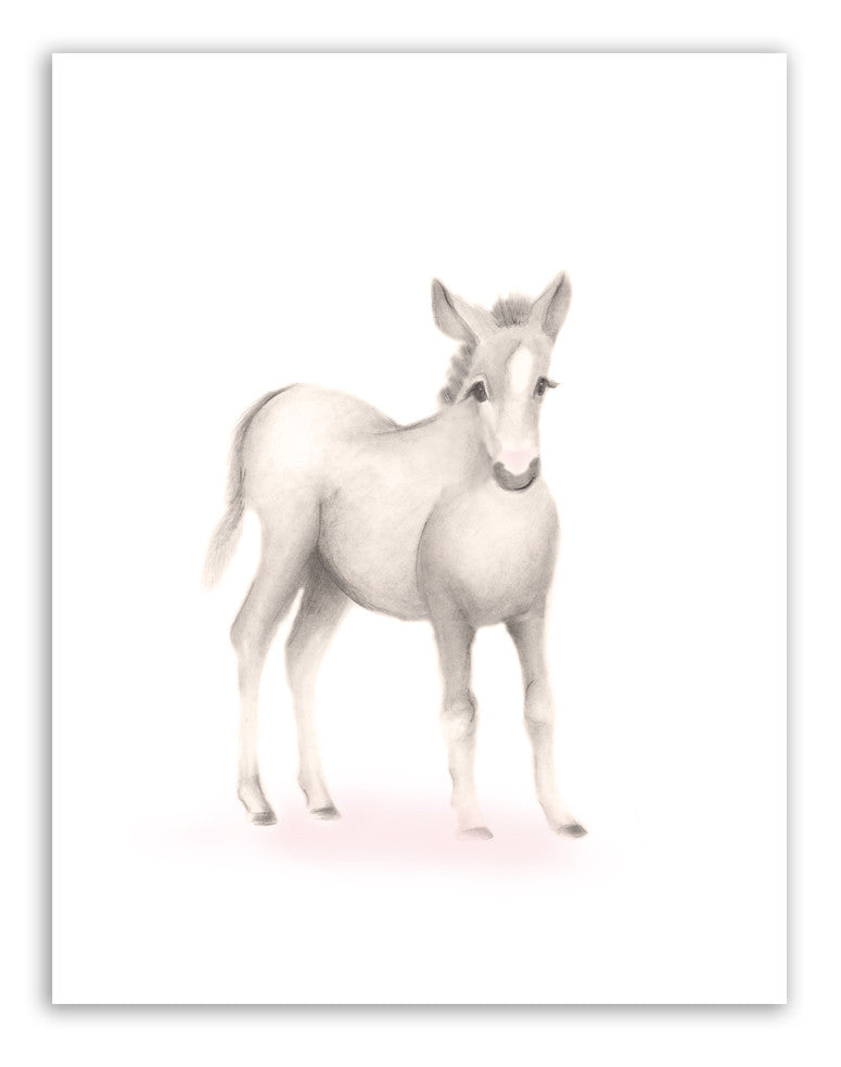 Horse Nursery Art Print - Sweet Blush - Studio Q - Art by Nicky Quartermaine Scott