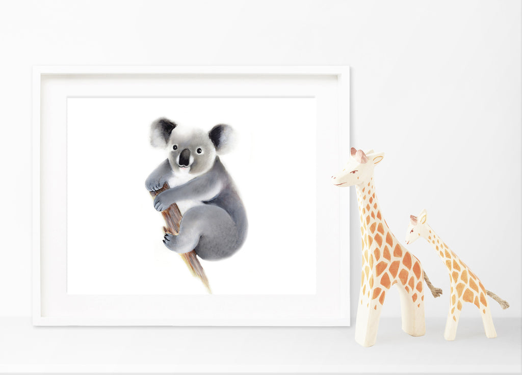 Baby Koala Nursery Art Print - Studio Q - Art by Nicky Quartermaine Scott