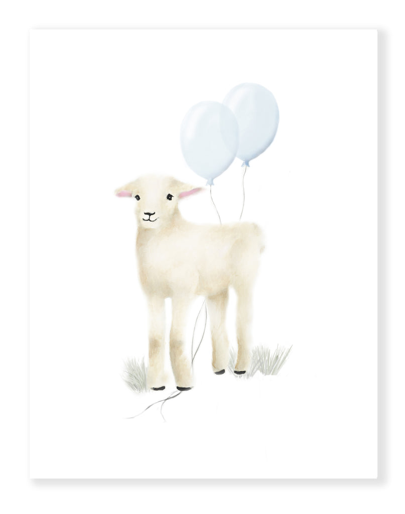 Baby Lambs for Boy - Set of 3 - Studio Q - Art by Nicky Quartermaine Scott